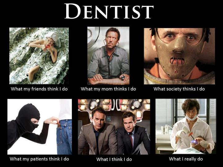 dentist is