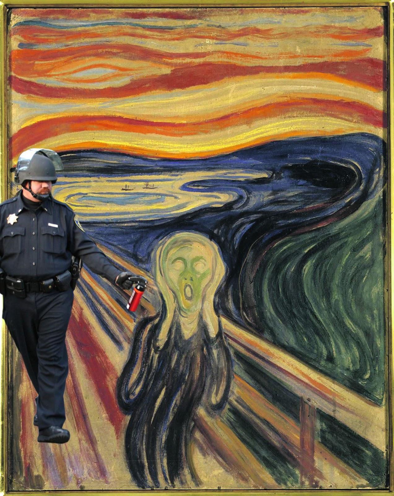 pepper spray cop - scream
