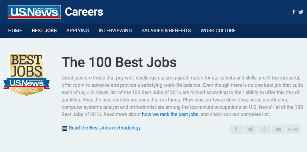 100 best jobs